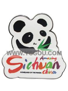 四川熊猫徽章定制 就选东宏旅游工艺品