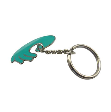 铜质咬版烤漆异形钥匙扣