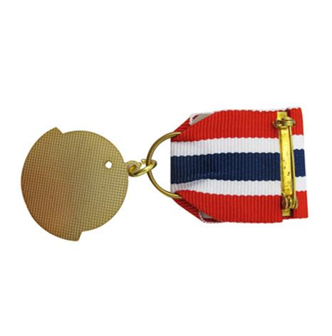 铜质仿珐琅镀真金配彩带勋章