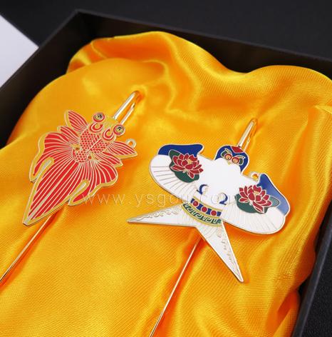 金鱼书签订制,中国风文创书签定制