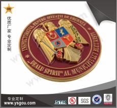 铜质烤漆纪念币制作厂家