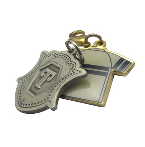 铜质印刷加波球衣钥匙扣