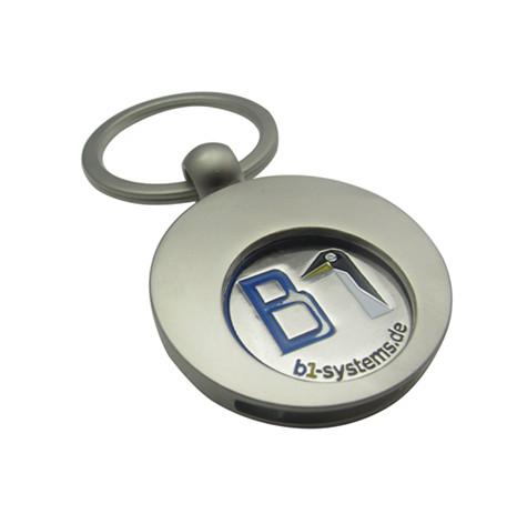 锌合金不入色+内片组合式钥匙扣