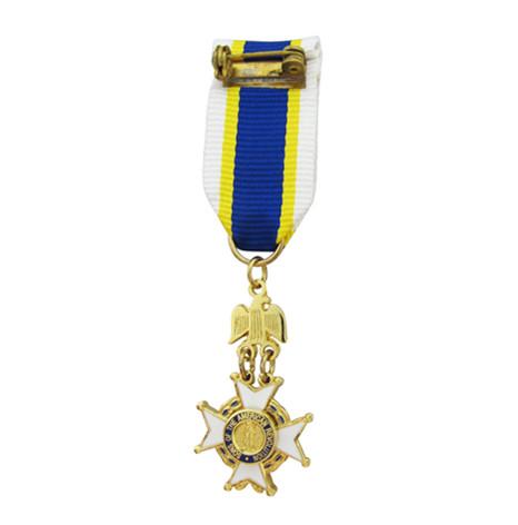 双面真珐琅镀真金多片式组合勋章