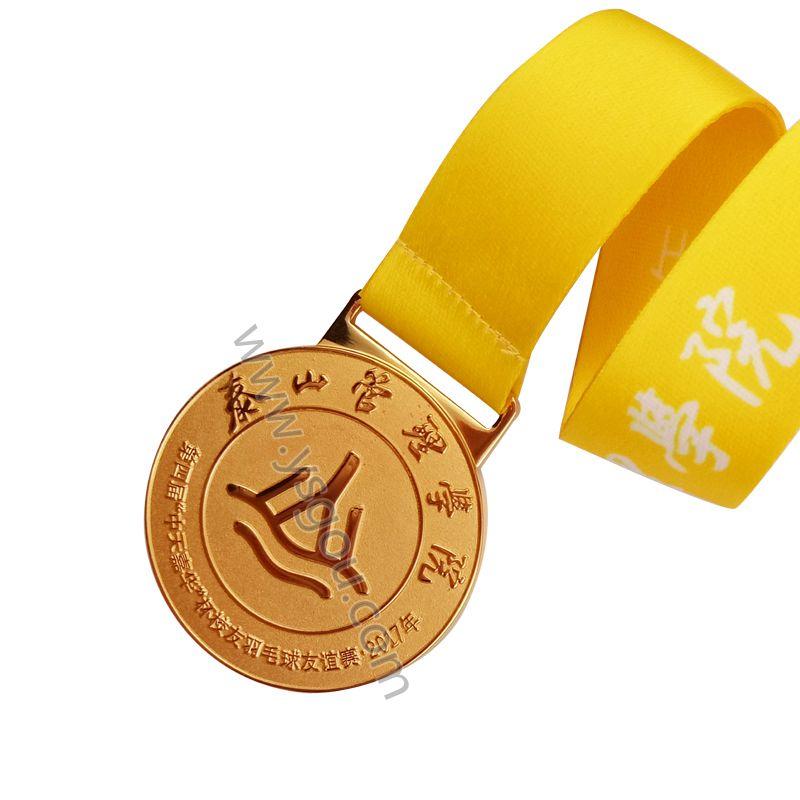 羽毛球比赛奖牌定制,金属奖牌制作厂家