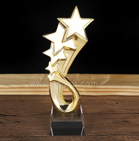 五角星奖杯,比赛活动金属奖杯订制