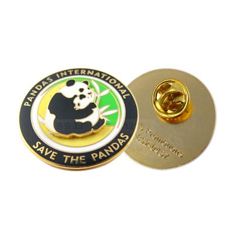 四川旅游景点熊猫徽章定制