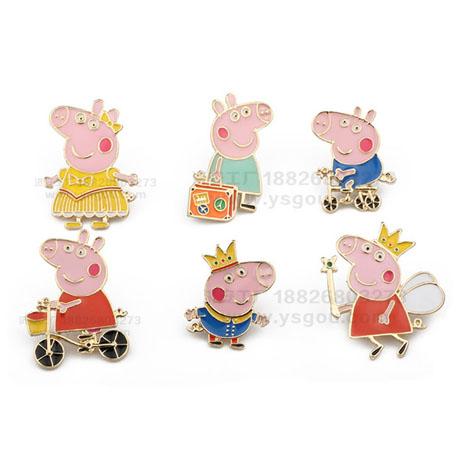 小猪胸针卡通可爱儿童装饰胸章徽章定制厂家