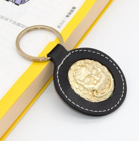 景区五金拉环皮具皮革钥匙扣生产厂家