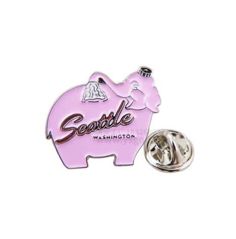 粉色小象徽章,小动物胸徽制作商