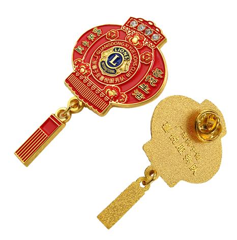 狮子会徽章,狮子会服务队徽章定制厂家
