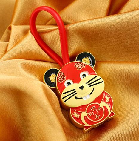 生肖鼠钥匙扣,鼠年钥匙扣制作